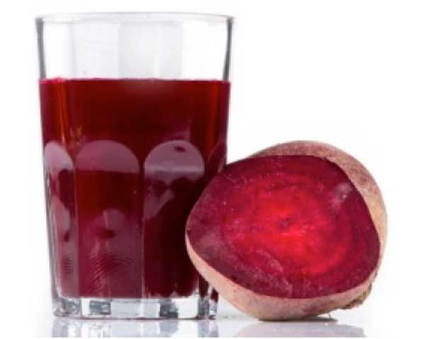 Rödbeta och rödbetsjuice - deras nitrater är bra för hälsan.