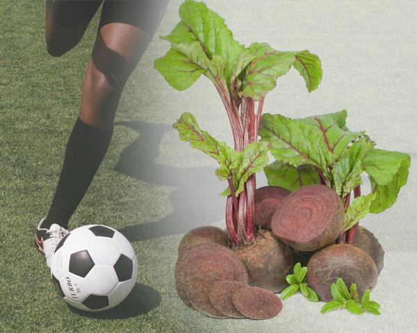 Fotboll är exempel på en sport där återhämtningen kan gynnas av rödbetsjuice.